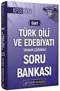 Pegem Yayınları 2020 ÖABT Türk Dili ve Edebiyatı Öğretmenliği Tamamı Çözümlü Soru Bankası