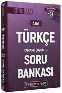 Pegem Yayınları 2020 ÖABT Türkçe Öğretmenliği Tamamı Çözümlü Soru Bankası