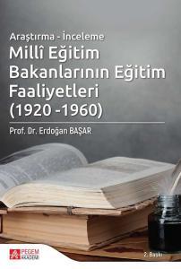 Pegem Yayınları Millî Eğitim Bakanlarının Eğitim Faaliyetleri