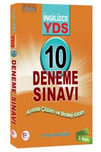 Pelikan YDS İngilizce 10 Deneme Sınavı Ayrıntılı Çözüm ve Strateji Kitabı