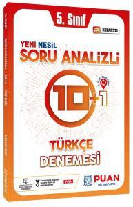 Puan Yayınları 5. Sınıf Türkçe Soru Analizli 10+1 Deneme