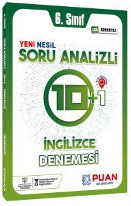 Puan Yayınları 6. Sınıf İngilizce Soru Analizli 10+1 Deneme