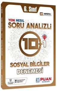 Puan Yayınları 6. Sınıf Sosyal Bilimler Soru Analizli 10+1 Deneme