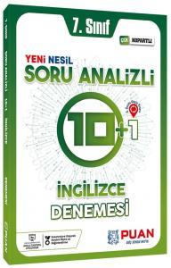 Puan Yayınları 7. Sınıf İngilizce Soru Analizli 10+1 Deneme