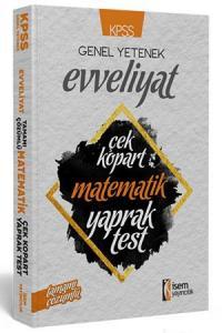 İSem KPSS Evveliyat Tarih Tamamı Çözümlü Çek Kopart Yaprak Test 2019