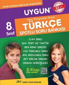 Sadık Uygun Yayınları 8. Sınıf Türkçe Spotlu Soru Bankası