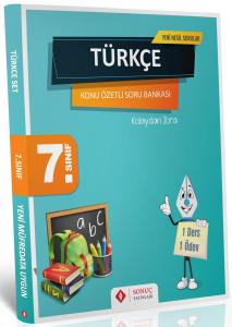 Sonuç Yayınları 7. Sınıf Türkçe Kazanım Merkezli Soru Kitapçığı