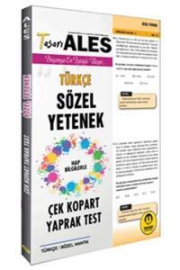 Tasarı Yayınları ALES Sözel Yetenek Çek Kopart Yaprak Test