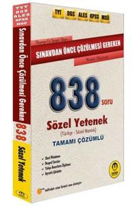 Tasarı Yayınları TYT DGS ALES KPSS MSÜ Sınavdan Önce Çözülmesi Gereken Tamamı Çözümlü Sözel 838 Soru