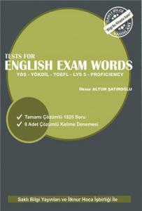 Tests For English Exam Words YDS, YÖKDİL, TOEFL, LYS 5, Proficiency