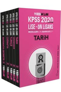 Yediiklim Yayınları 2020 KPSS Lise Ön Lisans GY GK Tamamı Çözümlü Modüler Soru Bankası Seti