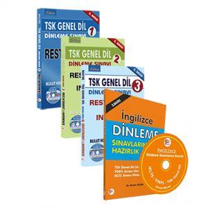 TSK Genel Dil Dinleme Sınavlarına Hazırlık Seti + İngilizce Dinleme Sınavlarına Hazırlık Kitabı