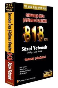 Tasarı Akademi DGS TYT ALES KPSS MSÜ Sınavdan Önce Çözülmesi Gereken 818 Sözel Soru