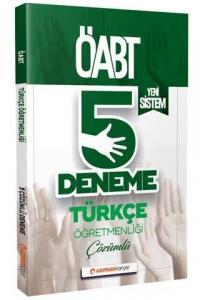 Uzman Kariyer Yayınları 2020 ÖABT Türkçe Öğretmenliği Çözümlü 5 Deneme