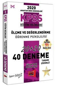 Yargı Yayınları 2020 KPSS Eğitim Bilimleri Ölçme ve Değerlendirme, Öğrenme Psikolojisi Tamamı Çözümlü 40 Deneme