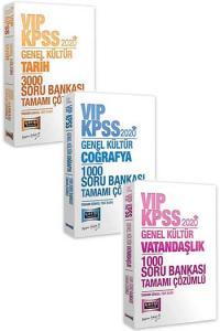 3 lü SET Yargı Yayınları 2020 KPSS VIP Genel Kültür Tamamı Çözümlü 5000 Soru Seti