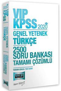 Yargı Yayınları 2020 KPSS VIP Türkçe Tamamı Çözümlü 2500 Soru Bankası