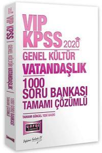 Yargı Yayınları 2020 KPSS VIP Vatandaşlık Tamamı Çözümlü 1000 Soru Bankası