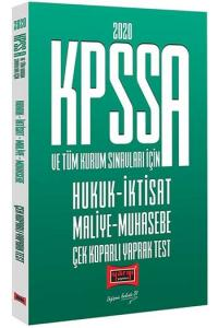 Yargı Yayınları 2020 KPSS A Grubu ve Tüm Kurum Sınavları İçin Hukuk-İktisat-Maliye-Muhasebe Çek Koparlı Yaprak Test