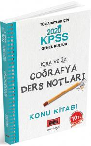 Yargı Yayınları 2020 KPSS Coğrafya Kısa ve Öz Ders Notları