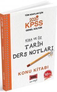 Yargı Yayınları 2020 KPSS Tarih Kısa ve Öz Ders Notları