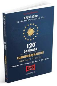 Yargı Yayınları 2020 KPSS ve Tüm Kurum Sınavları İçin 120 Dakikada Cumhurbaşkanlığı Hükümet Sistemi Tamamı Ayrıntılı Çözümlü Sorular