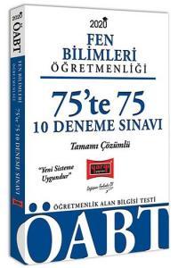 Yargı Yayınları 2020 ÖABT Fen Bilimleri Öğretmenliği 75'te 75 Tamamı Çözümlü 10 Deneme Sınavı