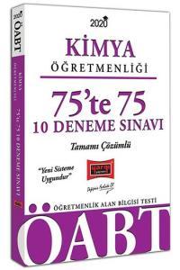 Yargı Yayınları 2020 ÖABT Kimya Öğretmenliği 75'te 75 Tamamı Çözümlü 10 Deneme Sınavı