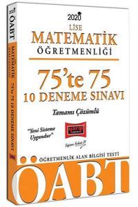 Yargı Yayınları 2020 ÖABT Lise Matematik Öğretmenliği 75'te 75 Tamamı Çözümlü 10 Deneme Sınavı