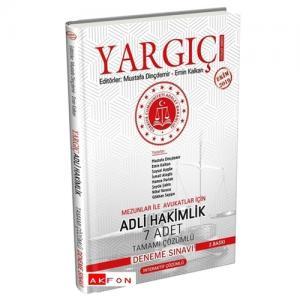 Yargıç Adli Hakimlik 7 Adet Tamamı Çözümlü Deneme Sınavı Akfon Yayınları 2019