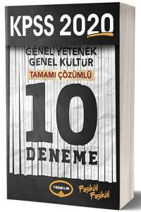 Yediiklim Yayınları 2020 KPSS Genel Yetenek Genel Kültür Tamamı Çözümlü 10 Fasikül Deneme