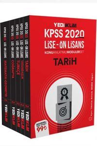 Yediiklim Yayınları 2020 KPSS Lise Ön Lisans GY GK Konu Anlatımlı Modüler Set