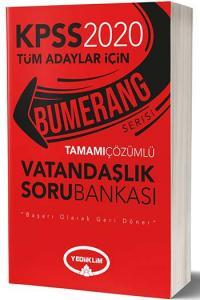 Yediiklim Yayınları 2020 KPSS Bumerang Vatandaşlık Tamamı Çözümlü Soru Bankası