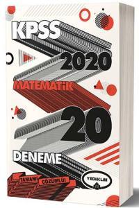 Yediiklim Yayınları 2020 KPSS Matematik Tamamı Çözümlü 20 Deneme