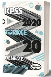 Yediiklim Yayınları 2020 KPSS Türkçe Tamamı Çözümlü 20 Deneme