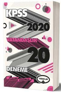 Yediiklim Yayınları 2020 KPSS Vatandaşlık Tamamı Çözümlü 20 Deneme