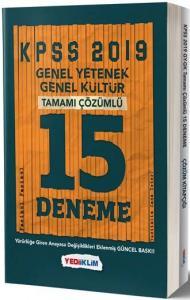 Yediiklim KPSS Genel Yetenek Genel Kültür Tamamı Çözümlü 15 Deneme
