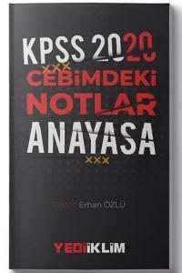 Yediiklim Yayınları 2020 KPSS Cebimdeki Notlar Anayasa