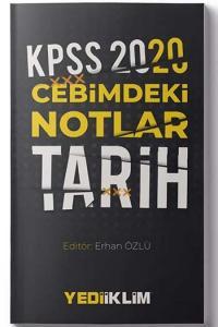 Yediiklim Yayınları 2020 KPSS Cebimdeki Notlar Tarih