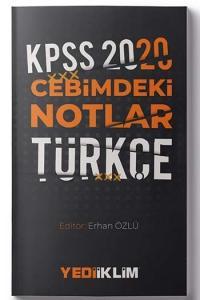 Yediiklim Yayınları 2020 KPSS Cebimdeki Notlar Türkçe