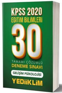 Yediiklim Yayınları 2020 KPSS Eğitim Bilimleri Gelişim Psikolojisi Tamamı Çözümlü 30 Deneme