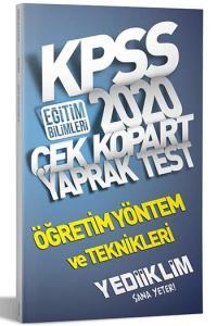Yediiklim Yayınları 2020 KPSS Eğitim Bilimleri Öğretim Yöntem ve Teknikleri Çek Kopart Yaprak Test