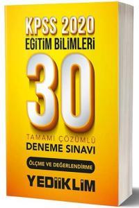 Yediiklim Yayınları 2020 KPSS Eğitim Bilimleri Ölçme ve Değerlendirme Tamamı Çözümlü 30 Deneme