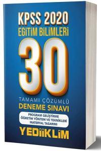 Yediiklim Yayınları 2020 KPSS Eğitim Bilimleri Program Geliştirme ÖYT Tamamı Çözümlü 30 Deneme