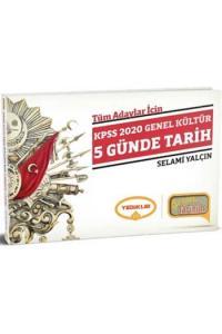 Yediiklim Yayınları 2020 KPSS Genel Kültür 5 Günde Tarih