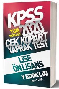 Yediiklim Yayınları 2020 KPSS Lise Ön Lisans Çek Kopart Yaprak Test