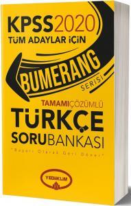 Yediiklim Yayınları 2020 KPSS Türkçe Bumerang Tamamı Çözümlü Soru Bankası