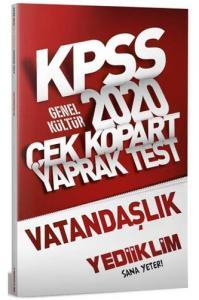 Yediiklim Yayınları 2020 KPSS Vatandaşlık Çek Kopart Yaprak Test