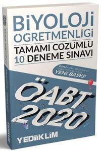 Yediiklim Yayınları 2020 ÖABT Biyoloji Öğretmenliği Tamamı Çözümlü 10 Deneme Sınavı
