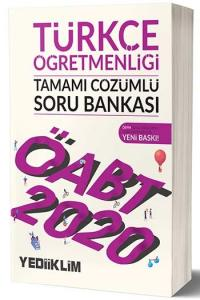 Yediiklim Yayınları 2020 ÖABT Türkçe Öğretmenliği Tamamı Çözümlü Soru Bankası